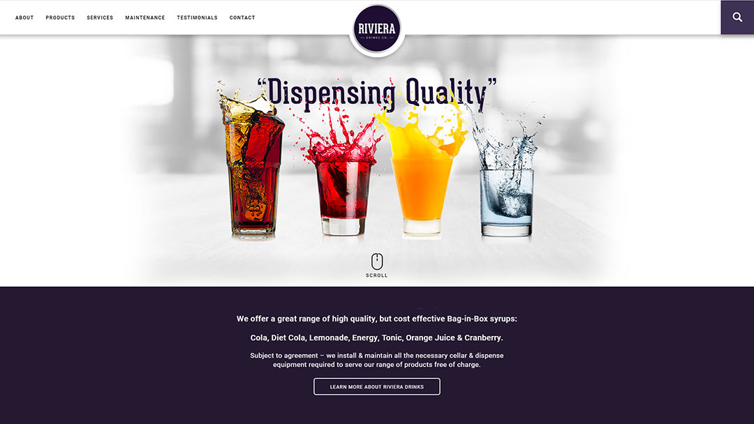 Riviera Drinks website built by Pawel Osmolski
